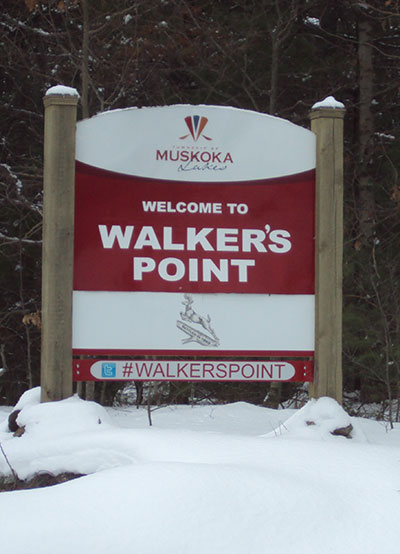 WALKERS POINT SIGN